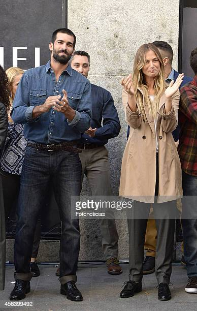 Ruben Cortada and Martina Klein present the new Cortefiel autumnwinter campaign at Cortefiel Store Puerta del Sol on September 30 2014 in Madrid Spain