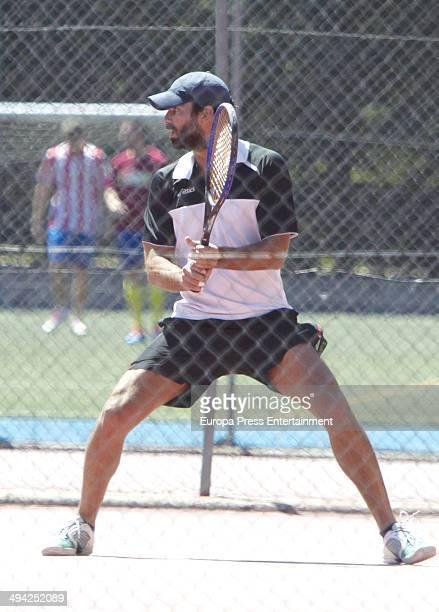 Ruben Cortada is seen playing tennis on May 14 2014 in Madrid Spain