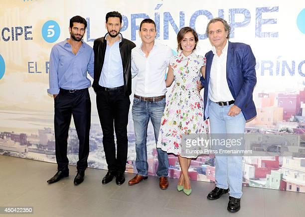 Ruben Cortada Stany Coppet Alex Gonzalez Hiba Abouk and Jose Coronado attend the presentation of 'El Principe' TV new season on June 9 2014 in Madrid...