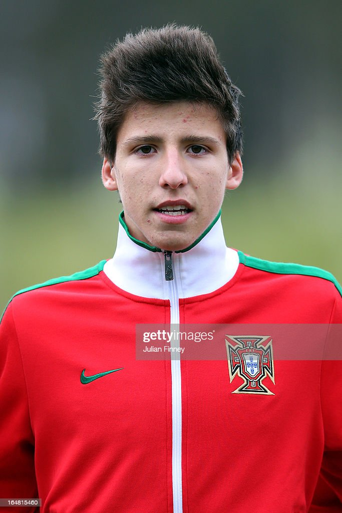 Ruben Dias of Portugal looks on during the UEFA European Under-17 Championship Elite Round match between Russia and Portugal on March 28, 2013 in Burton-upon-Trent, England.
