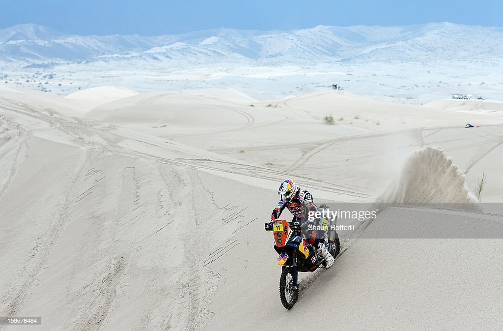 Ruben Faria of KTM Red Bull Factory Team competes in stage 11 from La Rioja to Fiambala during the 2013 Dakar Rally on January 16, 2013 in La Rioja, Argentina.
