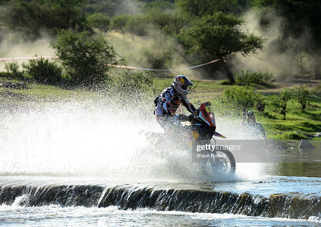 Ruben Faria of KTM Red Bull Rally Factory Team competes in stage 10 from Cordoba to La Rioja during the 2013 Dakar Rally on January 15, 2013 in Cordoba, Argentina.