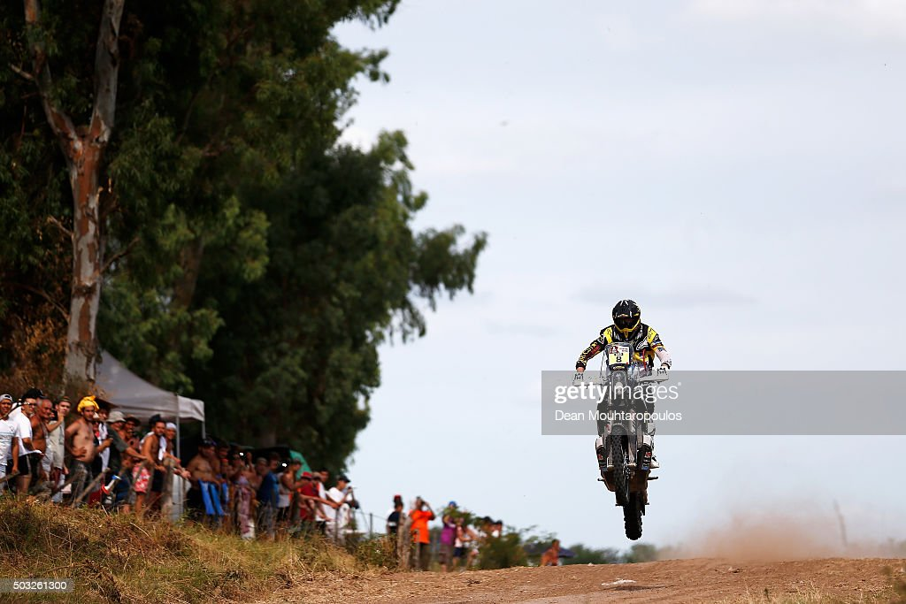 <a gi-track='captionPersonalityLinkClicked' href=/galleries/search?phrase=Ruben+Faria&family=editorial&specificpeople=2092898 ng-click='$event.stopPropagation()'>Ruben Faria</a> of Portugal riding on and for HUSQVARNA 450 RR ROCKSTAR ENERGY HUSQVARNA FACTORY RACING competes in the Dakar Rally Prologue on January 2, 2016 outside Buenos Aires near Ariecifes, Argentina.