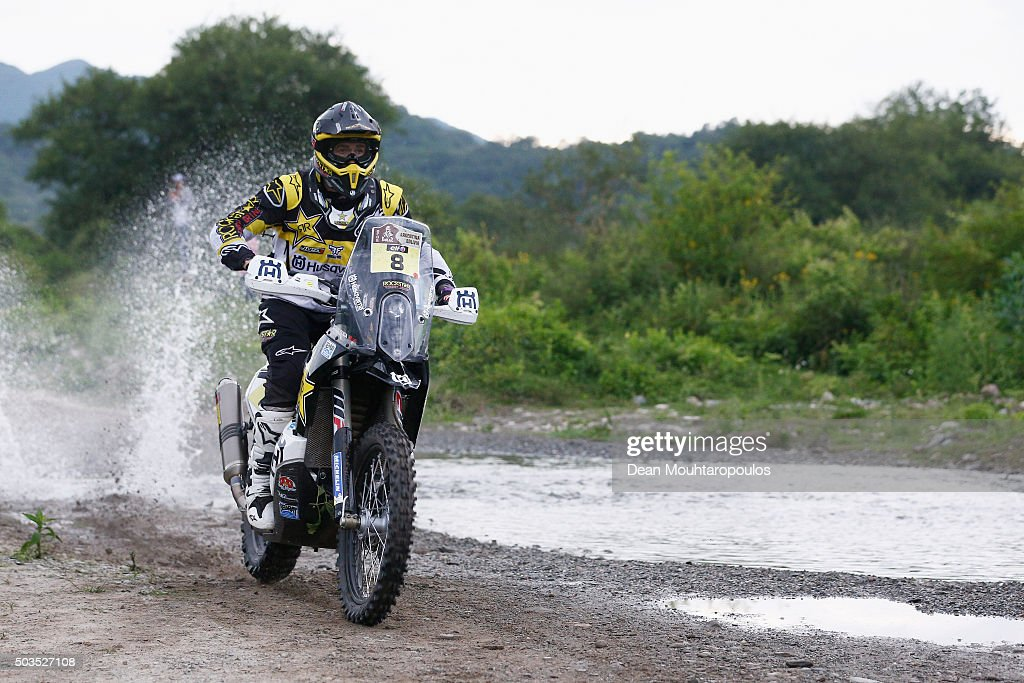 <a gi-track='captionPersonalityLinkClicked' href=/galleries/search?phrase=Ruben+Faria&family=editorial&specificpeople=2092898 ng-click='$event.stopPropagation()'>Ruben Faria</a> of Portugal riding on and for HUSQVARNA 450 RR ROCKSTAR ENERGY HUSQVARNA FACTORY RACING competes on day three of the 2016 Dakar Rally between Termas de Rio Hondo and Jujuy on January 5, 2016 near San Miguel de Tucuman, Argentina.