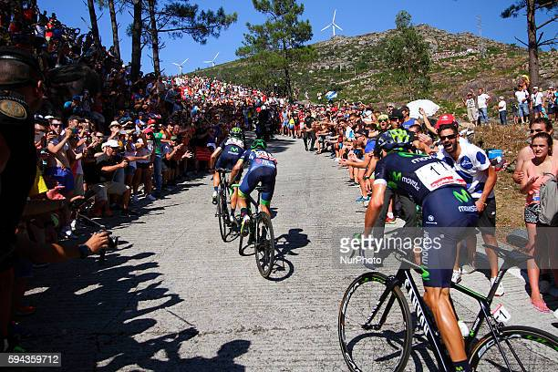 Ruben Fernandez Andujar / Movistar Team Johan Esteban Chaves Orica Bikeexchange Team / Alejandro Valverde / Movistar Team during 71st La Vuelta...