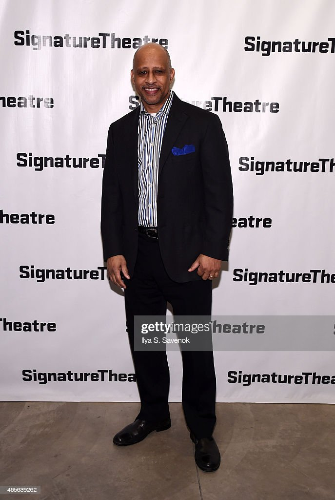 Ruben Francis James attends 'The Liquid Plane' Opening Night Party at Signature Theatre Company's The Pershing Square Signature Center on March 8, 2015 in New York City.