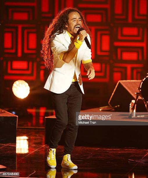 Ruben Isaac Albarran Ortega of Cafe Tacvba performs onstage during the 2014 NCLR ALMA Awards held at Pasadena Civic Auditorium on October 10 2014 in...