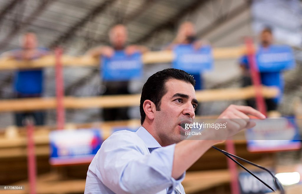 Ruben Kihuen, Democratic candidate for Nevadas 4th Congressional district, speaks at the United Brotherhood of Carpenters early vote rally at the Carpenters Union Training Center in Las Vegas on the first day of early voting in Nevada on Saturday, Oct. 22, 2016.