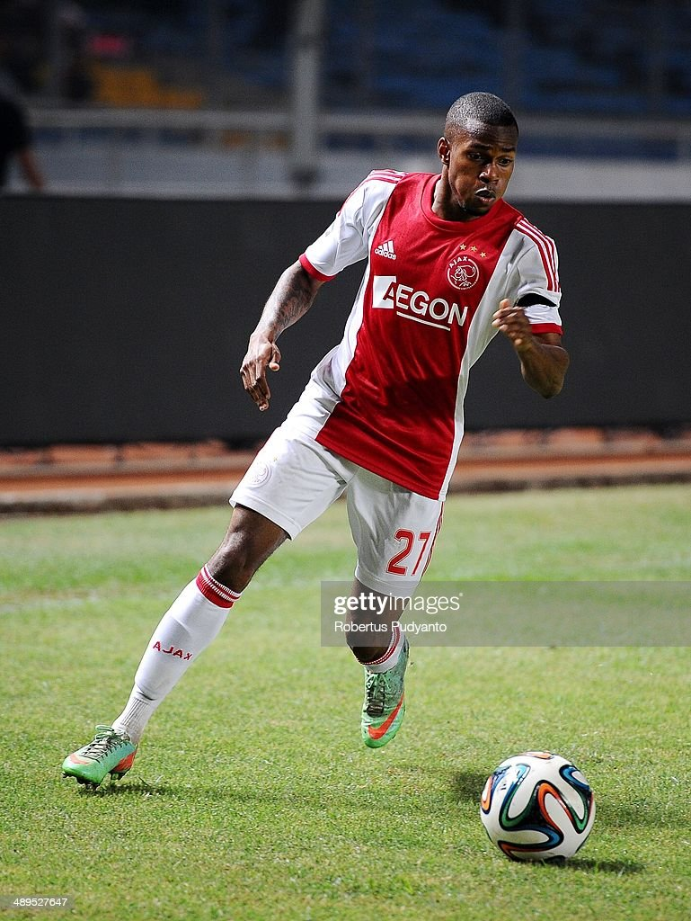 Ruben Ligeon of AFC Ajax runs with the ball during the international friendly match between Perija Jakarta and AFC Ajax on May 11, 2014 in Jakarta, Indonesia. AFC Ajax win the game with score 3-0.