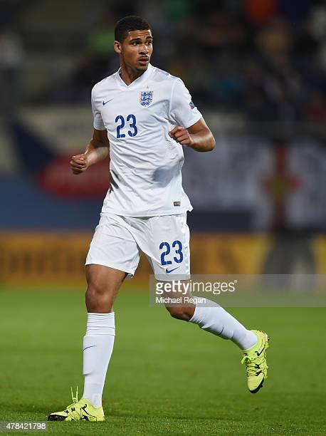 Ruben LoftusCheek in action during the UEFA Under21 European Championship match between England and Italy at Andruv Stadium on June 24 2015 in...