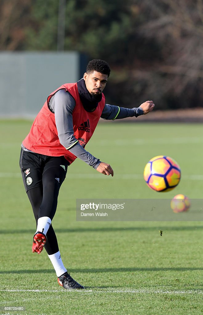 Ruben Loftus-Cheek of Chelsea during a training session at Chelsea Training Ground on December 9, 2016 in Cobham, England.