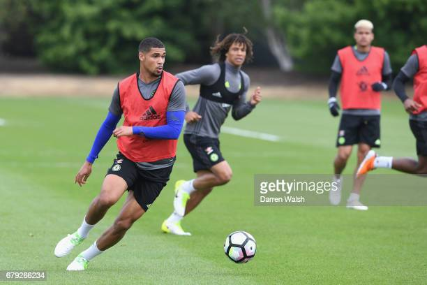 Ruben LoftusCheek of Chelsea during a training session at Chelsea Training Ground on May 5 2017 in Cobham England