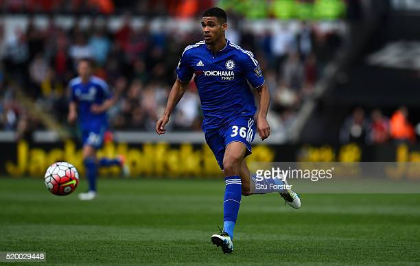 Ruben LoftusCheek of Chelsea in action during the Barclays Premier League match between Swansea City and Chelsea at Liberty Stadium on April 9 2016...