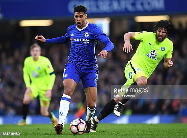 Ruben LoftusCheek of Chelsea in action during The Emirates FA Cup Third Round match between Chelsea and Peterborough United at Stamford Bridge on...