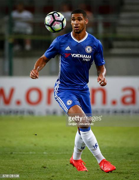 Ruben LoftusCheek of Chelsea in action during the friendly match between WAC RZ Pellets and Chelsea FC at Worthersee Stadion on July 20 2016 in...
