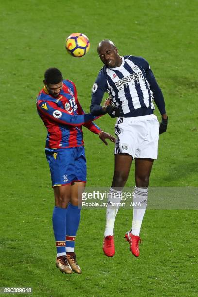 Ruben LoftusCheek of Crystal Palace and AllanRomeo Nyom of West Bromwich Albion during the Premier League match between West Bromwich Albion and...