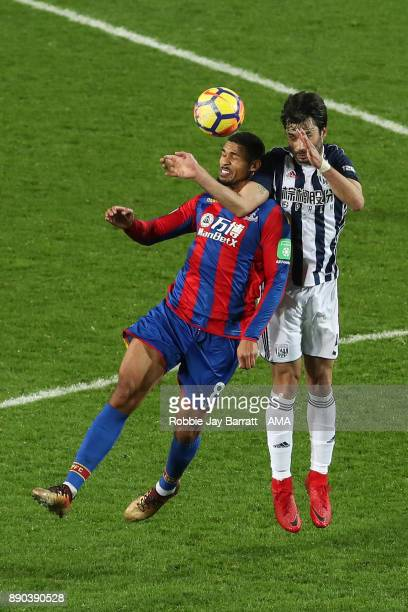 Ruben LoftusCheek of Crystal Palace and Claudio Jacob of West Bromwich Albion during the Premier League match between West Bromwich Albion and...
