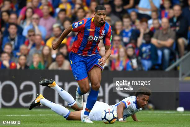 Ruben LoftusCheek of Crystal Palace gets past Thino Kehrer of Schalke during a Pre Season Friendly between Crystal Palace and FC Schalke 04 at...