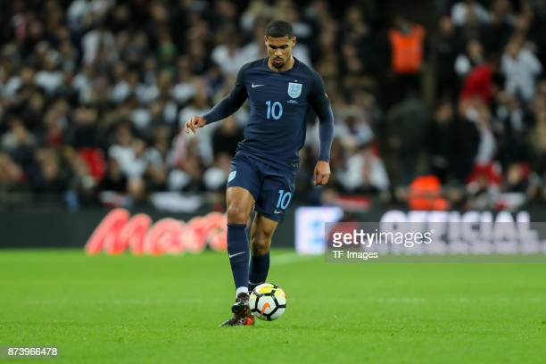 Ruben LoftusCheek of England controls the ball during the international friendly match between England and Germany at Wembley Stadium on November 10...
