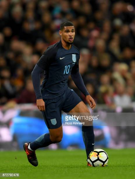 Ruben LoftusCheek of England in action during the international friendly match between England and Germany at Wembley Stadium on November 10 2017 in...