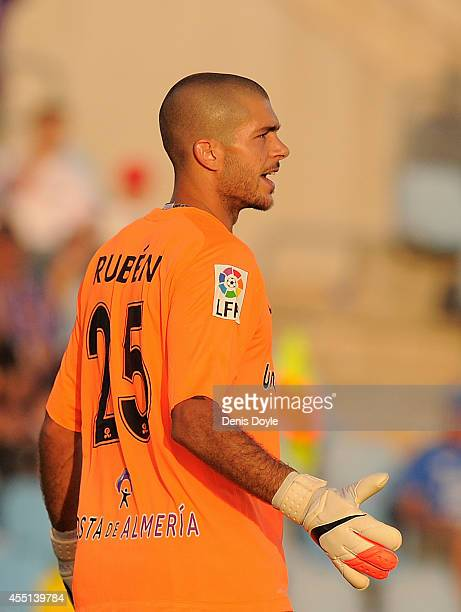 Ruben Martinez of UD Almeria looks on during the La Liga match between Getafe CF and UD Almeria at Coliseum Alfonso Perez on August 29 2014 in Getafe...