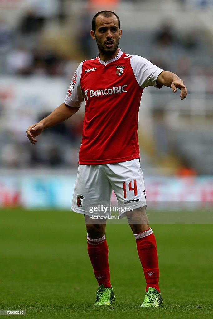 <a gi-track='captionPersonalityLinkClicked' href=/galleries/search?phrase=Ruben+Micael&family=editorial&specificpeople=5848979 ng-click='$event.stopPropagation()'>Ruben Micael</a> of Braga in action during a Pre Season Friendly between Newcastle United and Braga at St James' Park on August 10, 2013 in Newcastle, England.