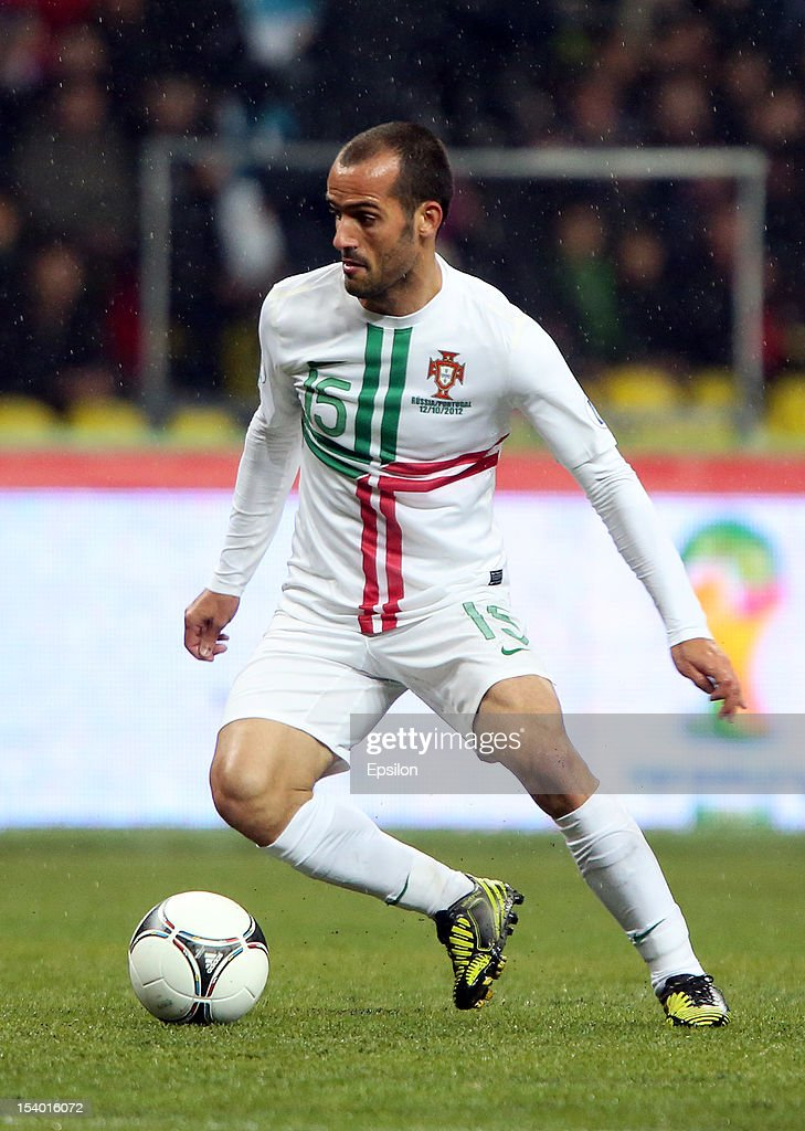 <a gi-track='captionPersonalityLinkClicked' href=/galleries/search?phrase=Ruben+Micael&family=editorial&specificpeople=5848979 ng-click='$event.stopPropagation()'>Ruben Micael</a> of Portugal in action during the FIFA 2014 World Cup qualifier group F match between Russia and Portugal at the Luzhniki Stadium on October 12, 2012 in Moscow, Russia.