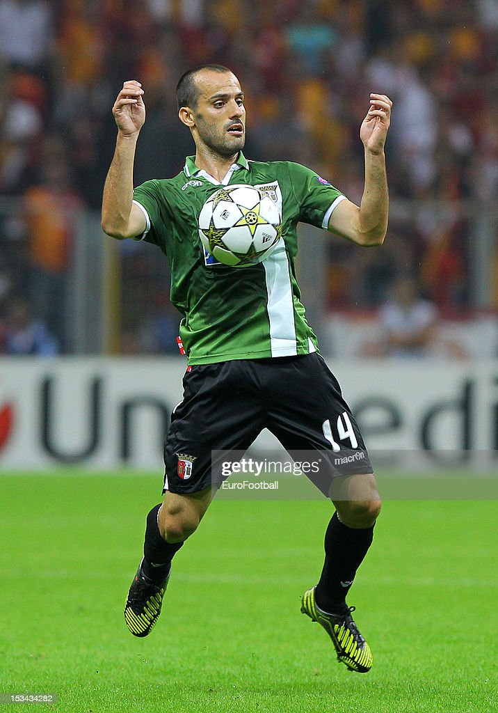 <a gi-track='captionPersonalityLinkClicked' href=/galleries/search?phrase=Ruben+Micael&family=editorial&specificpeople=5848979 ng-click='$event.stopPropagation()'>Ruben Micael</a> of SC Braga in action during the UEFA Champions League group stage match between Galatasaray AS and SC Braga on October 2, 2012 at the Ali Sami Yen Spor Kompleksi, in Istanbul, Turkey.