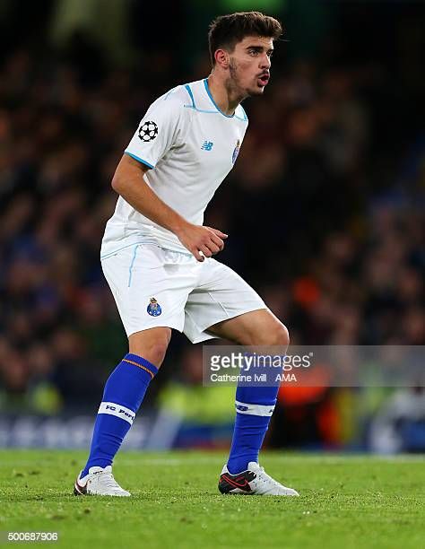 Ruben Neves of FC Porto during the UEFA Champions League match between Chelsea and FC Porto at Stamford Bridge on December 9 2015 in London United...