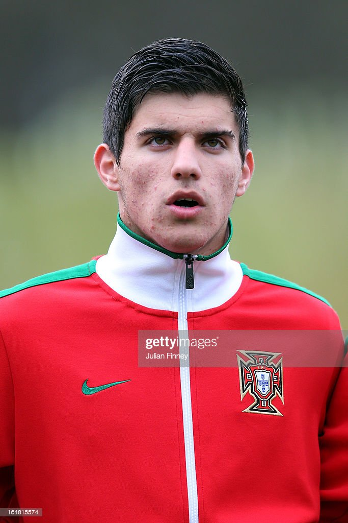 Ruben Neves of Portugal looks on during the UEFA European Under-17 Championship Elite Round match between Russia and Portugal on March 28, 2013 in Burton-upon-Trent, England.