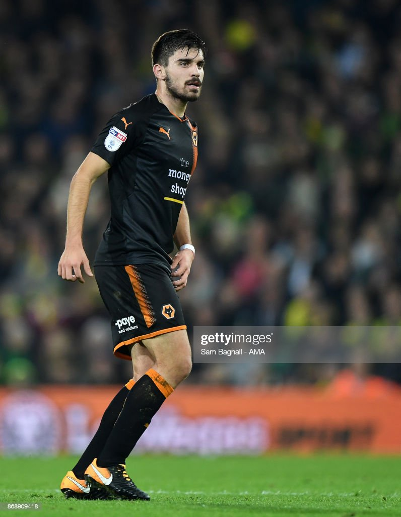 Ruben Neves of Wolverhampton Wanderers during the Sky Bet Championship match between Norwich City and Wolverhampton at Carrow Road on October 31, 2017 in Norwich, England.