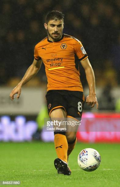 Ruben Neves of Wolverhampton Wanderers passes the ball during the Sky Bet Championship match between Wolverhampton and Bristol City at Molineux on...