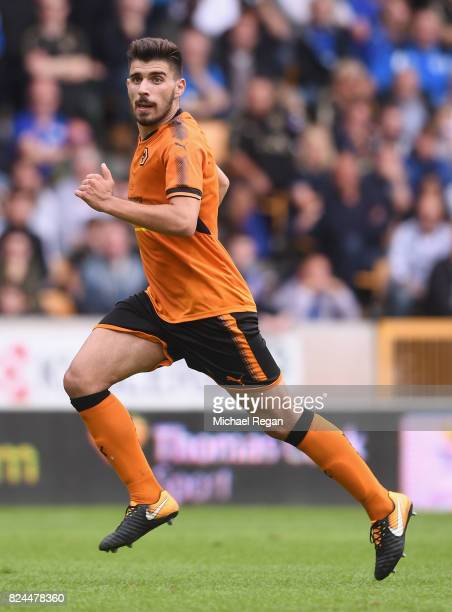 Ruben Neves of Wolves in action during the preseason friendly match between Wolverhampton Wanderers and Leicester City at Molineux on July 29 2017 in...