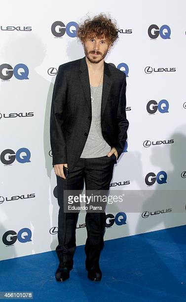 Ruben Ochandiano attends 'GQ Man in Progress' exhibition party photocall at The Costume Museum on September 25 2014 in Madrid Spain