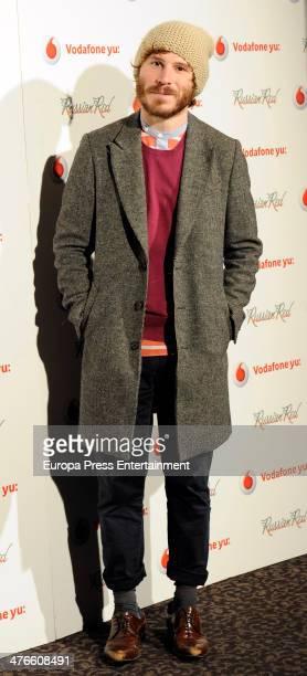 Ruben Ochandiano attends Russian Red concert on March 3 2014 in Madrid Spain