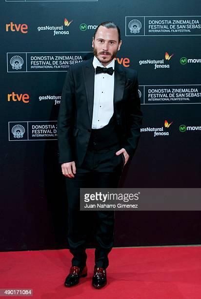 Ruben Ochandiano attends the red carpet for the 63rd San Sebastian Film Festival Closing Ceremony at Kursaal on September 26 2015 in San Sebastian...