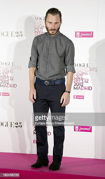 Ruben Ochandiano attends Vogue Fashion Night Out Madrid 2013 on September 12 2013 in Madrid Spain