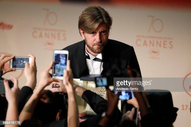 Ruben Ostlund winner of the Palme d'Or for the movie 'The Square' attends the Palme D'Or winner press conference during the 70th annual Cannes Film...