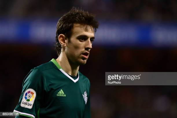 Ruben Pardo midfielder of Real Betis Balompie during the La Liga Santander match between Deportivo de La Coruña and Real Betis Balompie at Riazor...
