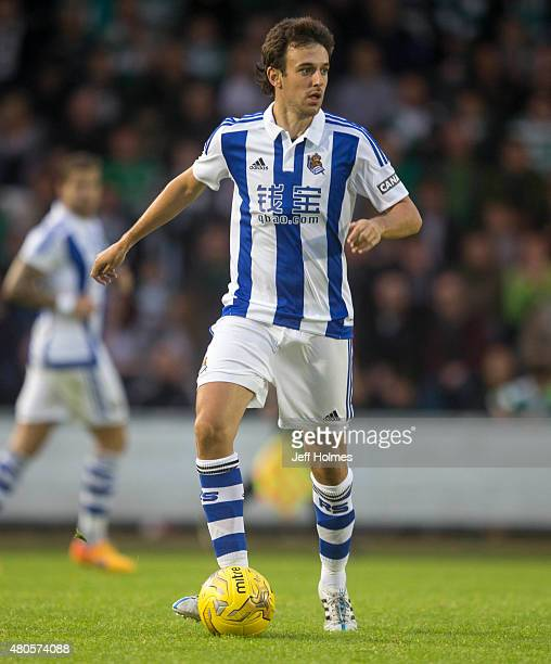 Ruben Pardo of Real Sociedad at the Pre Season Friendly between Celtic and Real Sociedad at St Mirren Park on July 10th 2015 in Paisley Scotland