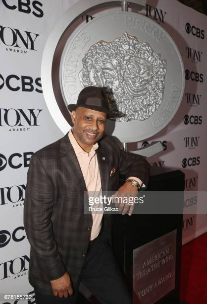 Ruben Santiago Hudson poses at The 71st Annual Tony Awards Meet the Nominees Press Junket at Sofitel Hotel on May 3 2017 in New York City