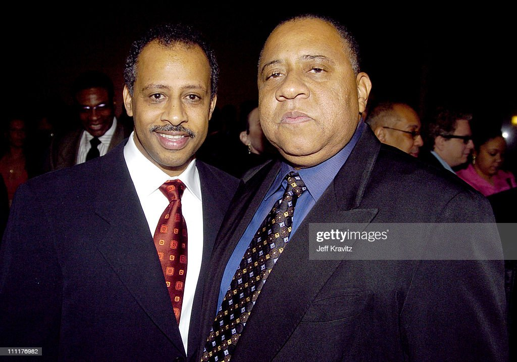 Ruben SantiagoHudson and Barry Shabaka Henley during HBO Films' 'Lackawanna Blues' Premiere Red Carpet at DGA in Los Angeles California United States