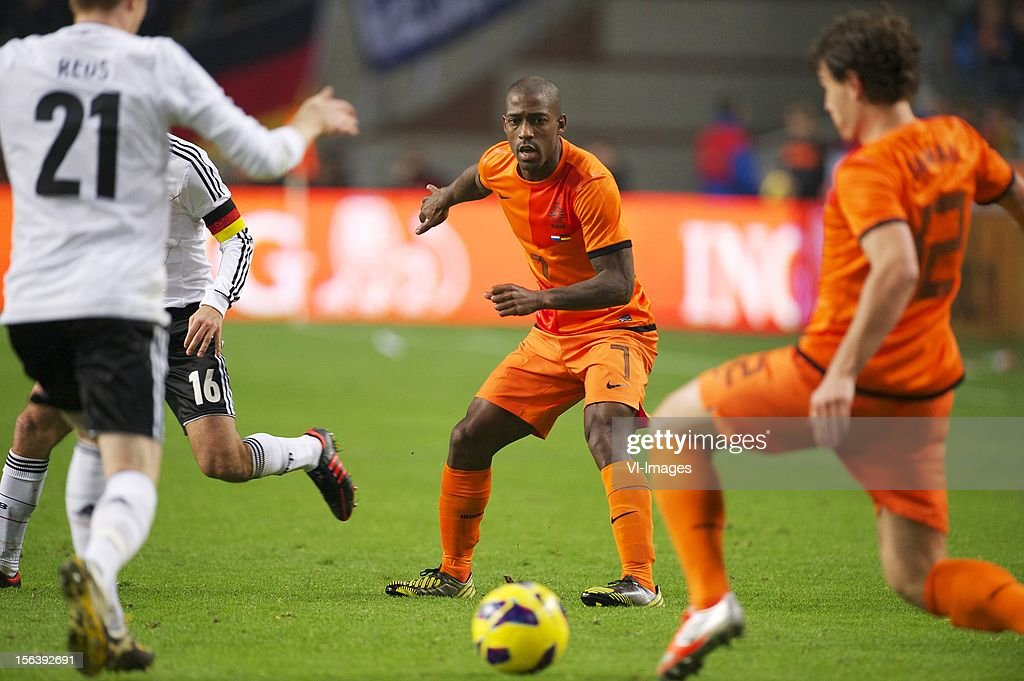 Ruben Schaken of Holland during the Friendly match between Holland and Germany at the Amsterdam Arena on November 14, 2012 in Amsterdam, The Netherlands.