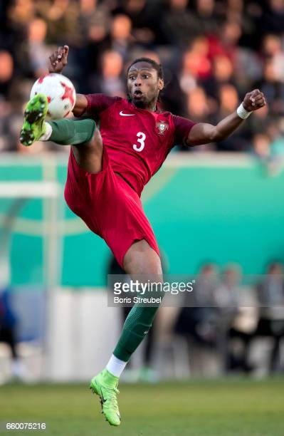Ruben Semedo of Portugal controls the ball during the International Friendly match between Germany U21 and Portugal U21 at GaziStadion on March 28...