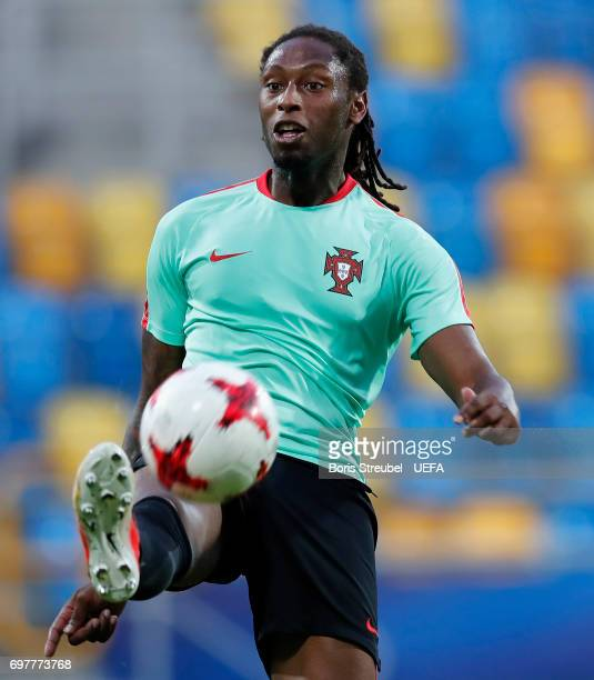 Ruben Semedo of Portugal controls the ball during the MD1 training session of the U21 national team of Portugal at Gdynia Sports Arena on June 19...
