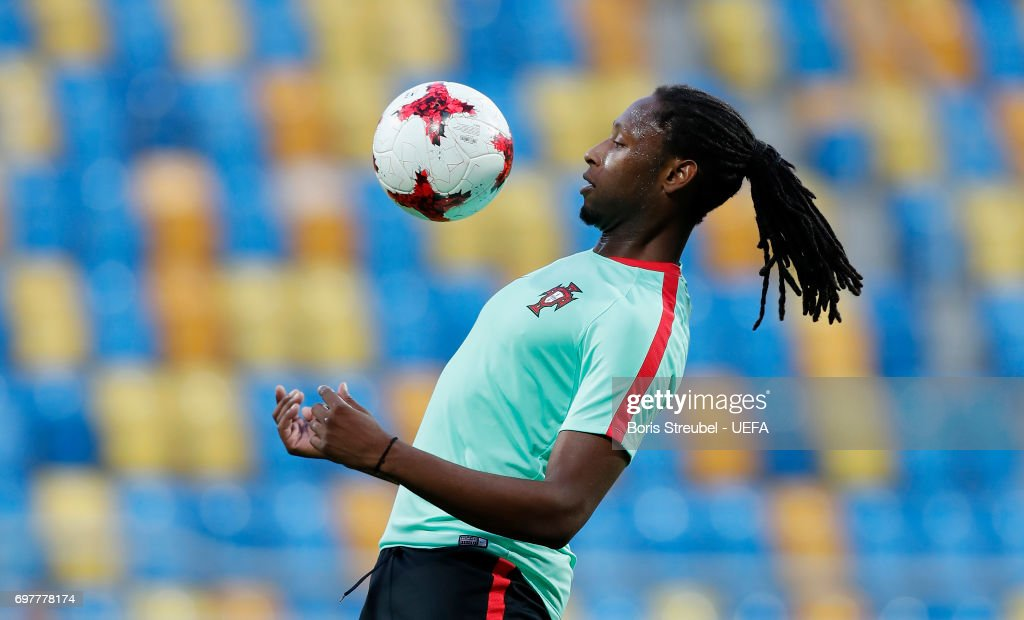 Ruben Semedo of Portugal controls the ball during the MD-1 training session of the U21 national team of Portugal at Gdynia Sports Arena on June 19, 2017 in Gdynia, Poland.