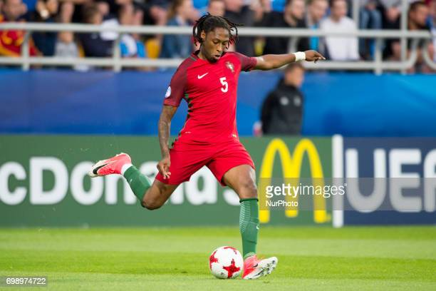 Ruben Semedo of Portugal controls the ball during the UEFA European Under21 Championship 2017 Group B match between Portugal and Spain at Gdynia...