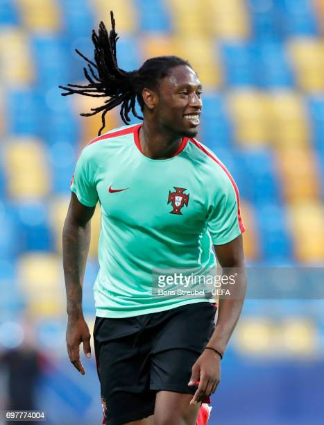 Ruben Semedo of Portugal reacts during the MD1 training session of the U21 national team of Portugal at Gdynia Sports Arena on June 19 2017 in Gdynia...