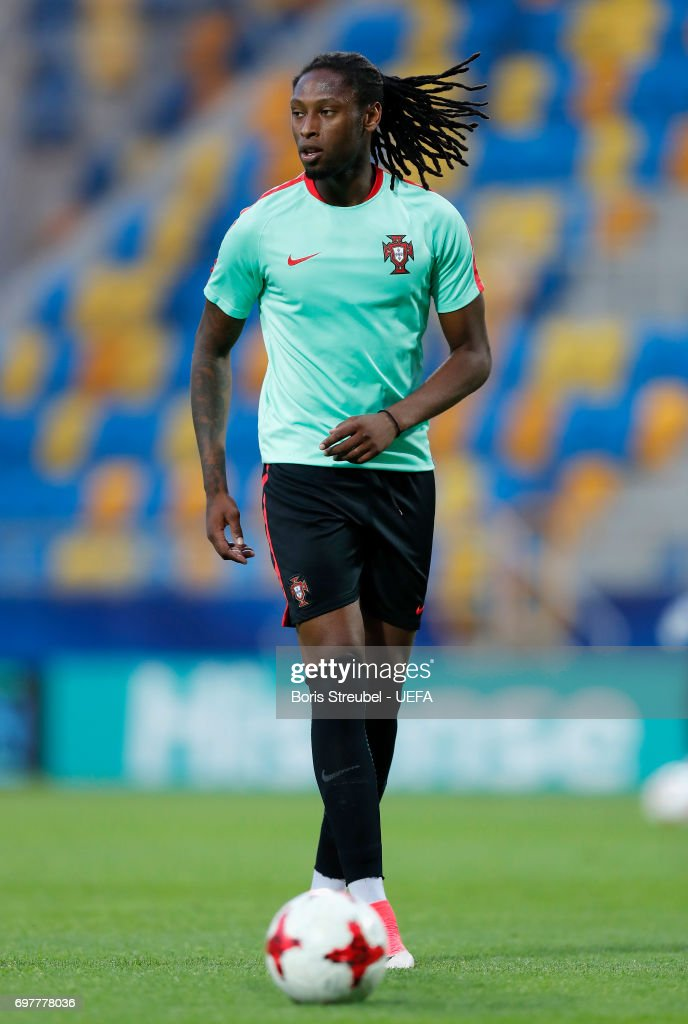 Ruben Semedo of Portugal runs with the ball during the MD-1 training session of the U21 national team of Portugal at Gdynia Sports Arena on June 19, 2017 in Gdynia, Poland.