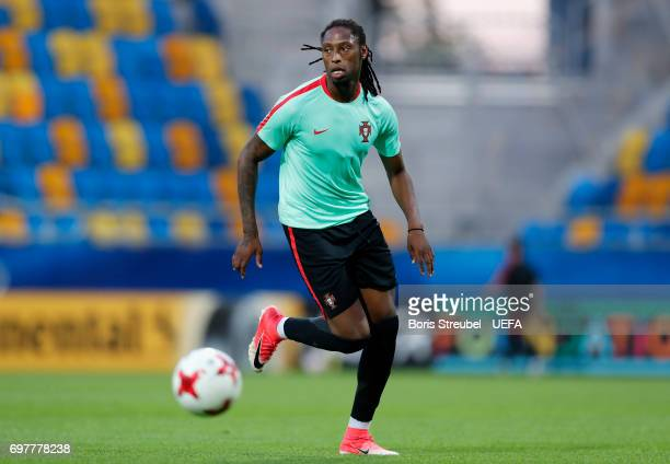 Ruben Semedo of Portugal runs with the ball during the MD1 training session of the U21 national team of Portugal at Gdynia Sports Arena on June 19...